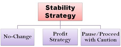 stability strategy When and why to pursue stability strategyas discussed above, stability is  common for most of the organizations at some point of time however, i.