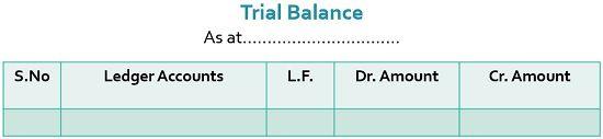trial balance specimen
